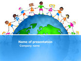 Global: 友情と団結 - PowerPointテンプレート #03475