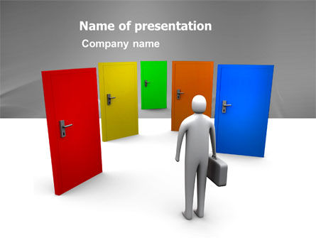 Choices PowerPoint Template, 03476, Consulting — PoweredTemplate.com