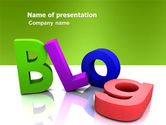 Careers/Industry: Blog PowerPoint Template #03477