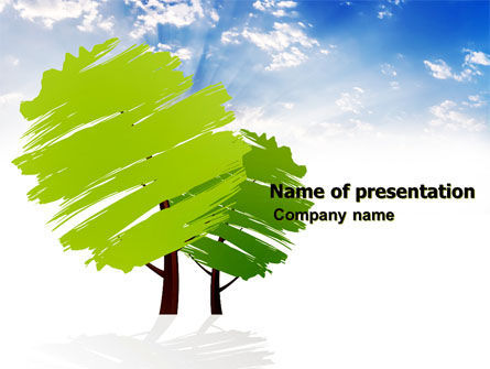 Greenery PowerPoint Template, 03479, Nature & Environment — PoweredTemplate.com