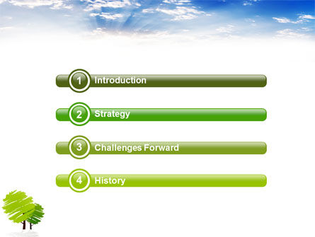 Greenery PowerPoint Template, Slide 3, 03479, Nature & Environment — PoweredTemplate.com
