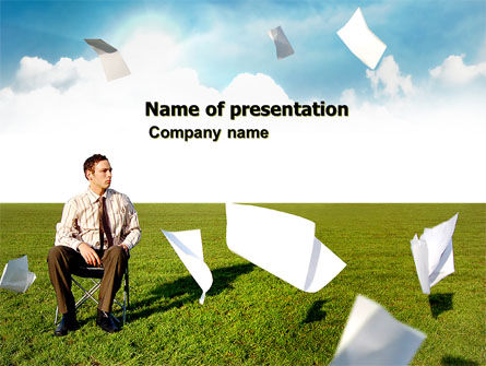 Business Concepts: Paper Work PowerPoint Template #03482