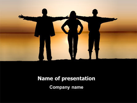 Wide Horizons PowerPoint Template, 03483, Sports — PoweredTemplate.com