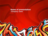Art & Entertainment: Graffiti PowerPoint Template #03484