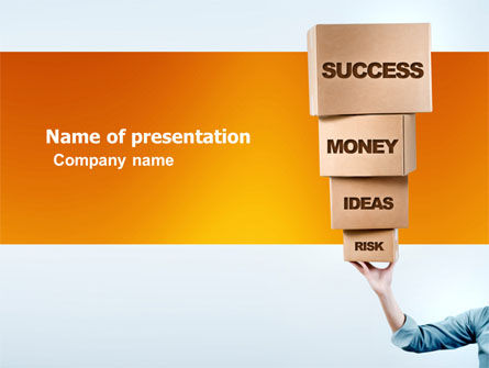 Blocks of Success PowerPoint Template