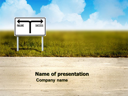 Successful Way PowerPoint Template, 03487, Business Concepts — PoweredTemplate.com