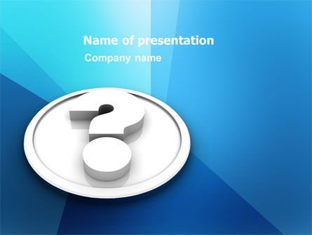 Question Mark In Plaster Medallion PowerPoint Template, 03488, 3D — PoweredTemplate.com