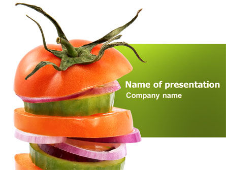 Fresh Vegetables PowerPoint Template, 03490, Food & Beverage — PoweredTemplate.com