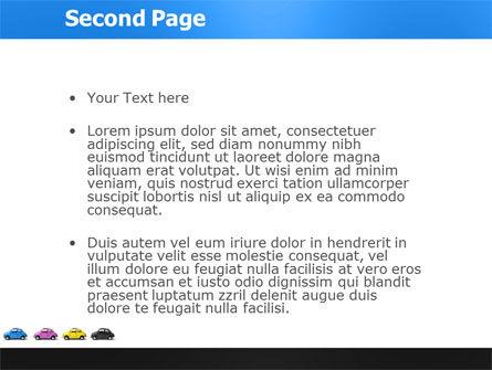 Minicars PowerPoint Template Slide 2