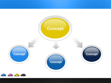 Minicars PowerPoint Template, Slide 4, 03491, Cars and Transportation — PoweredTemplate.com