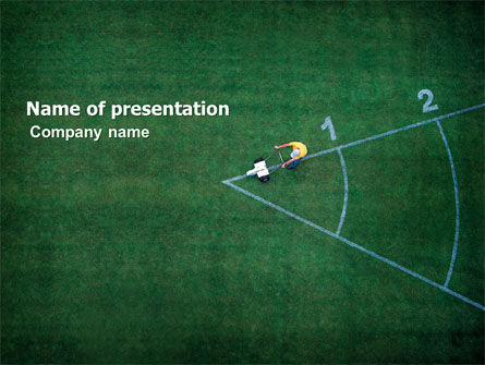 Field Marking PowerPoint Template, 03494, Sports — PoweredTemplate.com