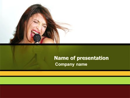 Singing PowerPoint Template, 03495, Careers/Industry — PoweredTemplate.com