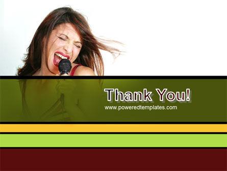 Singing PowerPoint Template Slide 20
