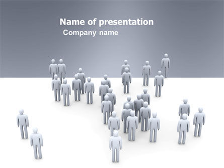 Crowd of People PowerPoint Template, 03496, Business Concepts — PoweredTemplate.com
