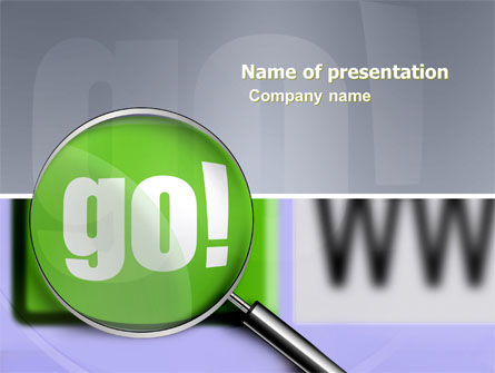 Telecommunication: Search Engine PowerPoint Template #03497