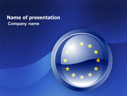 Flags/International: European Union Sign PowerPoint Template #03499