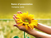 Nature & Environment: Summer Flower PowerPoint Template #03501