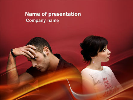 Quarrel PowerPoint Template, 03502, People — PoweredTemplate.com