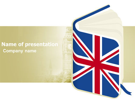 Education & Training: Learning English PowerPoint Template #03505