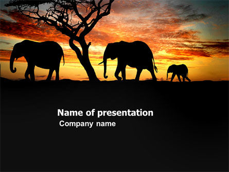 Savanna PowerPoint Template, 03506, Nature & Environment — PoweredTemplate.com