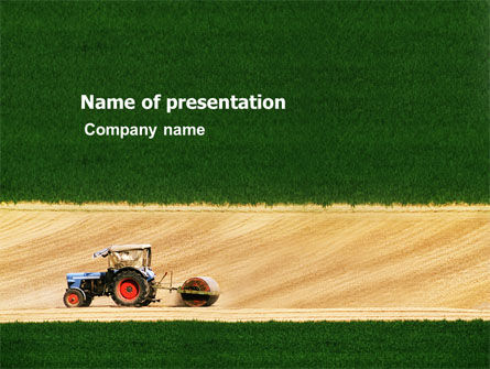 Tractor PowerPoint Template, 03507, Art & Entertainment — PoweredTemplate.com
