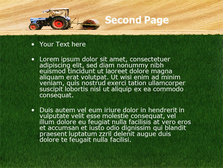 Tractor PowerPoint Template, Slide 2, 03507, Art & Entertainment — PoweredTemplate.com