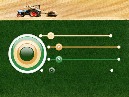 Tractor PowerPoint Template, Slide 3, 03507, Art & Entertainment — PoweredTemplate.com