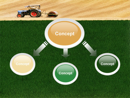 Tractor PowerPoint Template, Slide 4, 03507, Art & Entertainment — PoweredTemplate.com