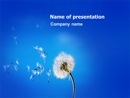 Blowball PowerPoint Template, 03508, Nature & Environment — PoweredTemplate.com