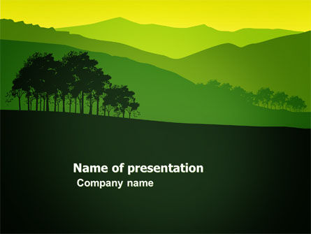 Nature & Environment: Mountain Landscape PowerPoint Template #03509