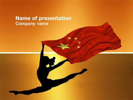 Olympiad in China PowerPoint Template