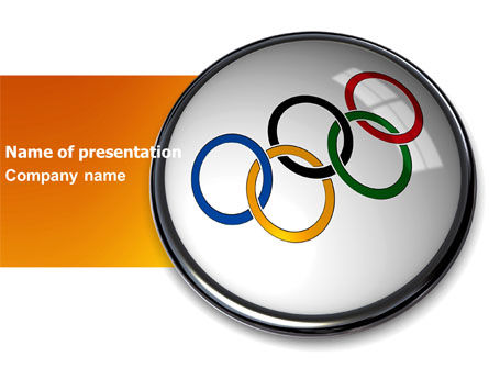 Olympic Symbol PowerPoint Template, 03512, Sports — PoweredTemplate.com