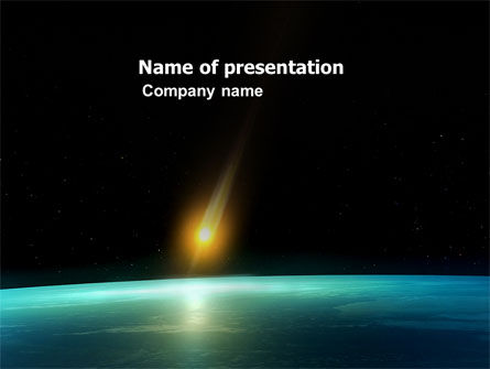 Nature & Environment: Meteor PowerPoint Template #03514