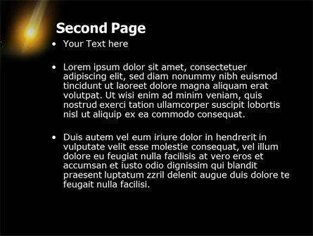 Meteor PowerPoint Template, Slide 2, 03514, Nature & Environment — PoweredTemplate.com