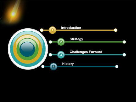 Meteor PowerPoint Template, Slide 3, 03514, Nature & Environment — PoweredTemplate.com
