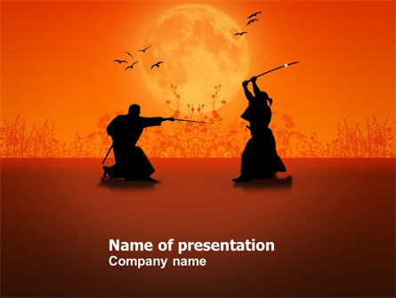 Samurai PowerPoint Template, 03517, Sports — PoweredTemplate.com