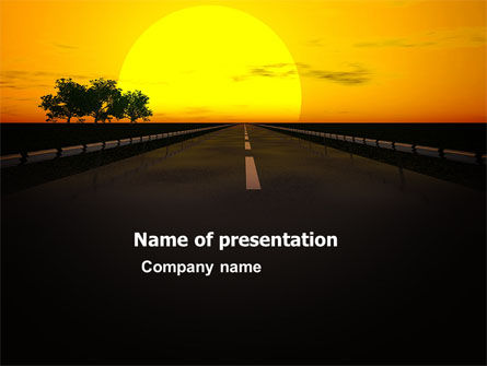 Sunset Highway PowerPoint Template, 03518, Construction — PoweredTemplate.com