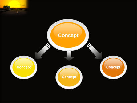 Sunset Highway PowerPoint Template, Slide 4, 03518, Construction — PoweredTemplate.com