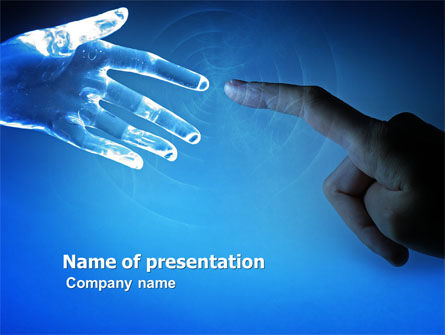 People and Technology PowerPoint Template, 03524, Technology and Science — PoweredTemplate.com