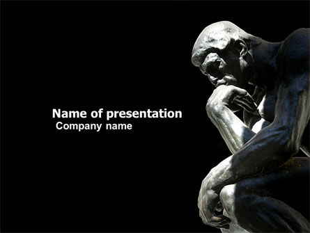 Art & Entertainment: Thinker PowerPoint Template #03525