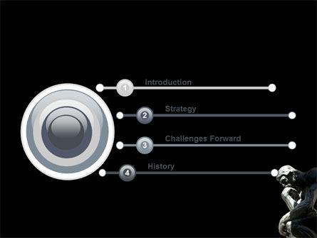 Thinker PowerPoint Template, Slide 3, 03525, Art & Entertainment — PoweredTemplate.com