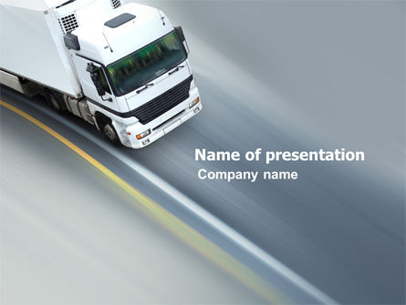 Cars and Transportation: Plantilla de PowerPoint - servicio de carga #03527