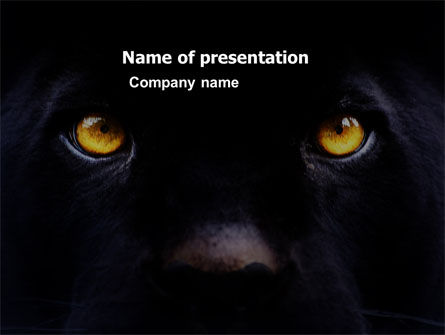 General: Wild Eyes PowerPoint Template #03528
