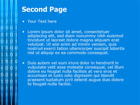 Blue Code PowerPoint Template, Slide 2, 03529, Technology and Science — PoweredTemplate.com
