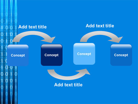 Blue Code PowerPoint Template, Slide 4, 03529, Technology and Science — PoweredTemplate.com