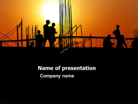 Builders PowerPoint Template, 03530, Construction — PoweredTemplate.com