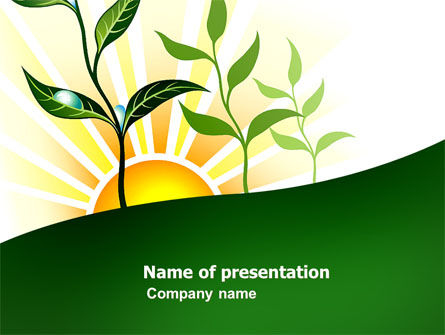 Nature & Environment: Growing PowerPoint Template #03531