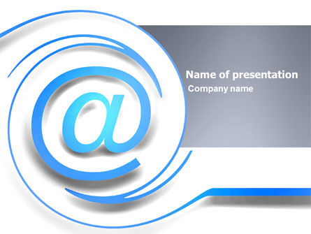 Modern Communication Via Email PowerPoint Template, 03532, Technology and Science — PoweredTemplate.com