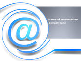 Technology and Science: Modern Communication Via Email PowerPoint Template #03532