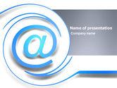 Technology and Science: 파워포인트 템플릿 - 이메일을 통한 현대적인 커뮤니케이션 #03532